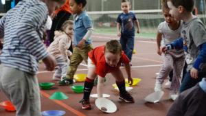 Děti při cvičení
