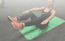 žena při cvičení